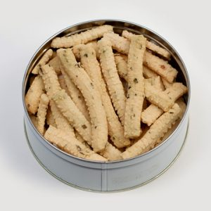 Cheese Straw White Cheddar & Chive in Gift Tin