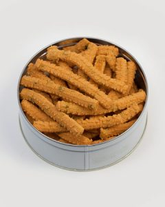Cheese Straws with Jalapeño Tin