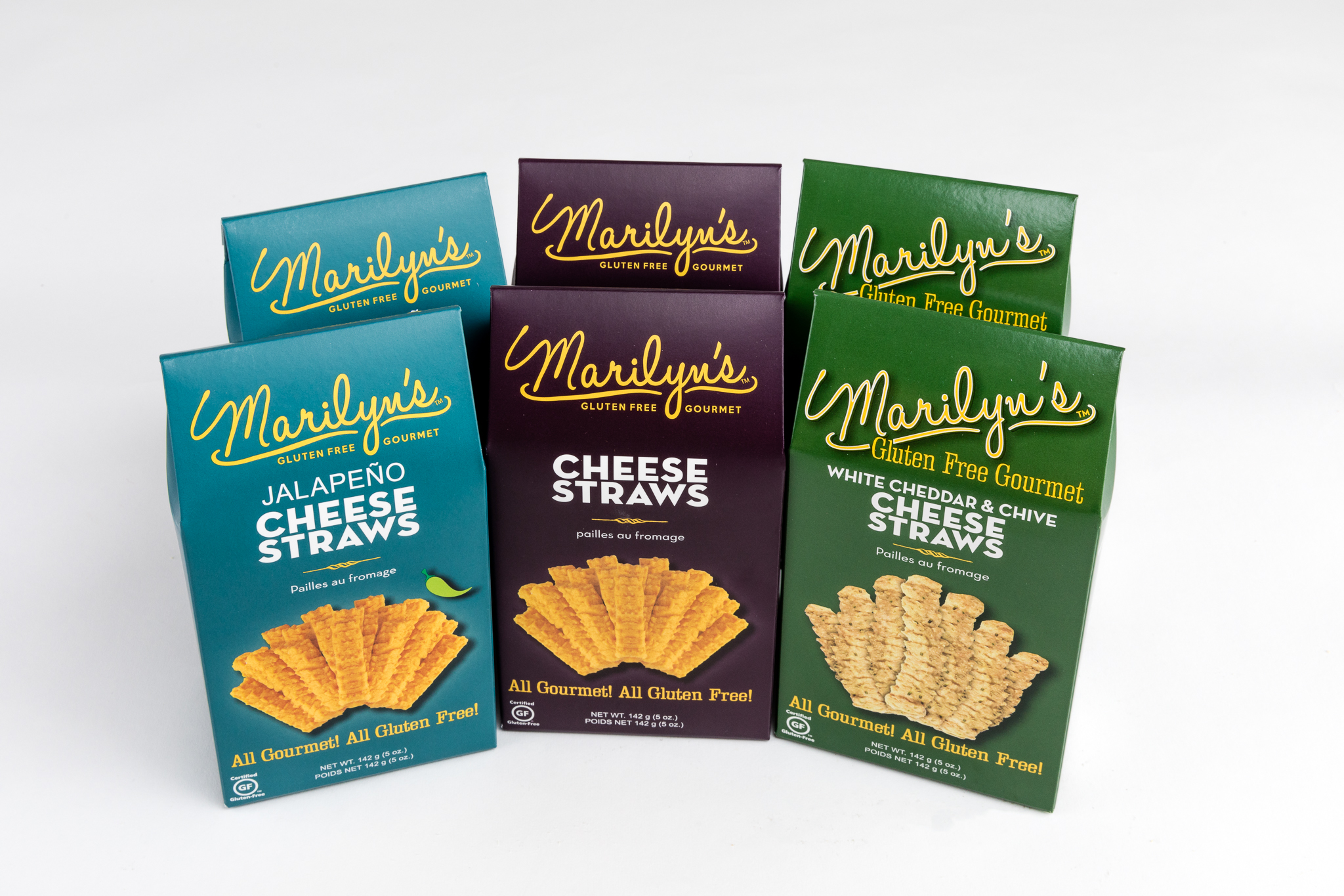three packages of cheese straws